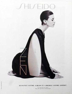 Advert of the fragrance Zen(2000 - 2001) by Shiseido