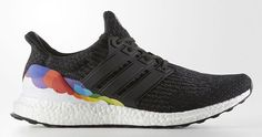 """""""adidas will celebrate LGBT month with this black Ultra Boost that features rainbow detailing"""""""