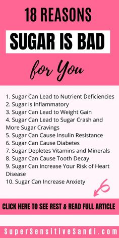 Sugar can cause or worsen many health issues including mental health disorders. Learn the science behind why sugar is bad for you. Health Facts, Health And Nutrition, Health And Wellness, Health Fitness, Mental Health, Health Class, School Health, Sugar Effects On Body, High Blood Sugar Levels