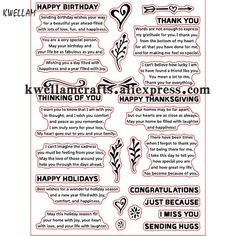Cheap clear stamps, Buy Quality rubber stamp directly from China transparent stamp Suppliers: Happy Birthday HOLIDAYS Scrapbook DIY photo cards account rubber stamp clear stamp transparent stamp May Birthday, Birthday Wishes, Diy Photo, Album Diy, Express My Gratitude, Tampons Transparents, Cheap Stamps, Card Sentiments, I Thank You