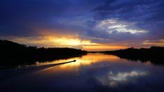 Golden Ride - Sunset Over the Delaware - null