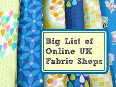 Fabric for Dressmaking, Crafts and Quilting - Sunnyside Fabrics UK ... : quilt fabric shops uk - Adamdwight.com