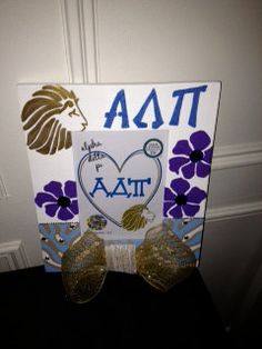 Alpha Delta Pi Greek Sorority Decorative Frame