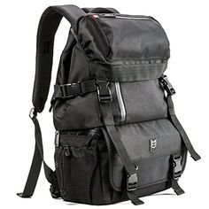Evecase DSLRSLR Digital Camera  Lens Kit Travel Rugged Backpack  Black Water Resistant >>> This is an Amazon Affiliate link. You can get additional details at the image link.