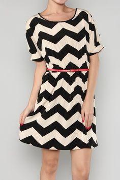 Black Taupe Chevron Zig Zag Short Sleeve Dress, (http://www.thetexascowgirl.com/black-taupe-chevron-zig-zag-short-sleeve-dress/)