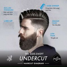 Modern trending men's cuts, and diagrams to ensure most any barber/stylist can replicate it