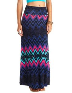 abstract chevron print maxi skirt At Charlotte Russe! I might have to go up there this week