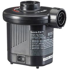Electric Air Pump Intex Car Powered Quick-Fill DC Max 21.2CFM Inflating Airbeds #Intex
