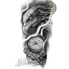 Chest Piece Tattoos, Cool Arm Tattoos, Hand Tattoos, Sleeve Tattoos, Chicano Art Tattoos, Eagle Tattoos, Watch Tattoos, Tattoos For Kids, Tattoo Stencils