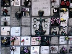 Columbarium at the Cementerio de Milán. A Columbarium is an above ground permanent structure containing several niches or spaces for the placement of cremated human remains.
