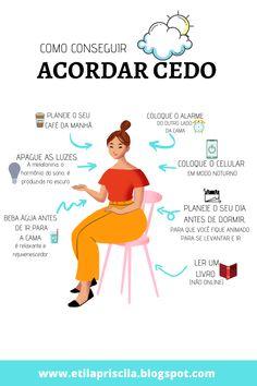 Cria o hábito de acordar cedo com essas dicas que separei para você no blog ♥ Alta Performance, Miracle Morning, Motivational Phrases, Good Habits, Spa Day, Self Development, Better Life, Self Care, Health And Beauty