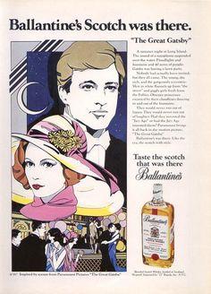 Ballantines Scotch Ad - 1974 Gatsby