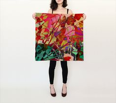 Design #1 #floral,#abstract,#scarf