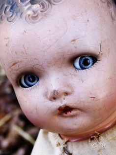 Photo about Cracked antique doll face. Image of expressions, cracked, forlorn - 535645