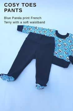 Cosy toes for baby wearing and toasty toes. Handmade Clothes, Baby Wearing, French Terry, Cosy, Kids Outfits, Sweatpants, Children, How To Wear, Fashion