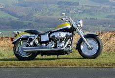 Harley davidson dyna low rider with fatboy wheels and fatboy front end | eBay #harleydavidsonfatboylow