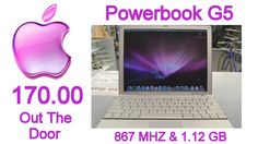 Apple Powerbook G5 @ 170.00 Out The Door. Please Call 618-244-0291 for payment & shipping options or come in & see Tiffany