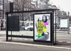 The freebie of the day is a bus stop billboard mock-up to help you create a presentation for your advertising campaign projects. To have your artwork displayed on the billboard, just place it inside the smart object and you'll be done in no time. Billboard Mockup, Billboard Design, Branding, New Poster, Bus Stop, Signage, Logo Design, Graphic Design, Badge Design