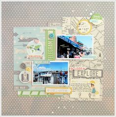 #papercraft #scrapbook #layout  look, explore by magnette at @Studio_Calico