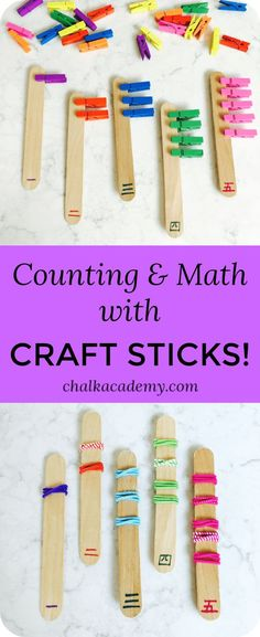 Counting & Math with Craft Sticks!
