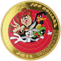 Gold Coin: 2015 $100 14-Karat Gold Coin and Pocket Watch - Looney Tunes TM: Bugs Bunny and Friends.