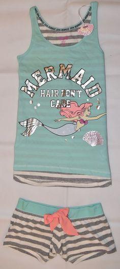 PRIMARK Disney Little Mermaid Ariel Vest & Shorts Set PJ PYJAMAS Size 4 - 20 NEW Primark Pyjamas, Disney Pajamas, Cute Pajamas, Disney Little Mermaids, Ariel The Little Mermaid, Lazy Day Outfits, Cute Outfits, Sleepover Outfit, Little Girls