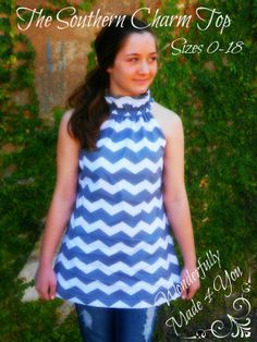 The Southern Charm Top pdf pattern sizes 0-18 for women & teens INSTANT DOWNLOAD