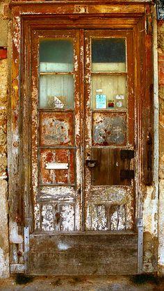 Rust and potential Cool Doors, Unique Doors, Door Knockers, Door Knobs, Portal, Rust In Peace, When One Door Closes, Peeling Paint, Rusty Metal