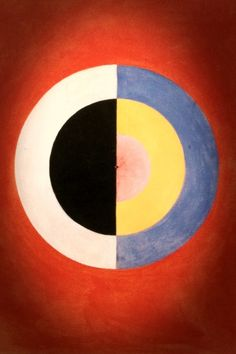 """Hilma af Klint (1862-1944, Sweden) - an artist and mystic whose paintings were amongst the first abstract art. She belonged to a group called """"The Five"""" and her paintings which resembled sometimes diagrams were a visual representation of complex philosophical ideas."""