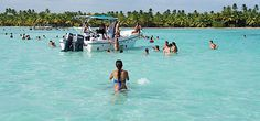 A Ilha Saona é o principal passeio oferecido em Punta Cana e dura um dia inteiro. Dizem que nesse lugar foi filmado o filme Lagoa Azul, e para os que viram, tem paisagens e praias lindíssimas, além do mar absolutamente cristalino. Na primeira parte do passeio é feito um trajeto por terra até Bayahibe e de lá o passeio prossegue em catamarã até a ilha. É bonito, mas cansativo; por isso pese os prós e os contras antes de se aventurar (US$ 90, por pessoa).