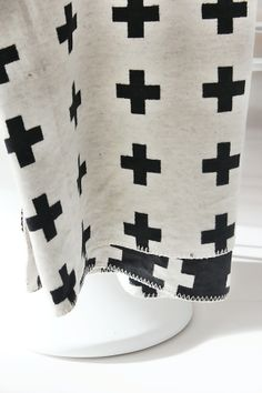 Room of Karma | Pia Wallen Cross Blanket | White