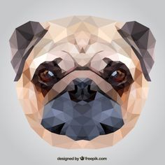 Cute Pug Back Case for iPhone 7 - CoversCart - India's Largest Online Store for Mobile Phone Covers in India Polygon Art, Pug Art, Dog Crafts, Canvas Prints, Art Prints, Pug Love, Dog Behavior, Geometric Art, Animals And Pets