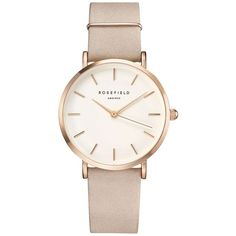 The West Village Soft Pink Rose Gold Watch by Rosefield (3,890 THB) ❤ liked on Polyvore featuring jewelry, watches, pink, pink jewelry, wrap strap watches, chain jewelry, rose gold jewellery and chain wrap watches