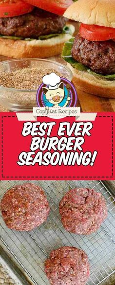 Give your hamburgers the best flavor with this easy homemade burger seasoning recipe. Plus get tips on how to cook the perfect grilled burgers. recipes beef seasoning The Best Homemade Burger Seasoning Best Homemade Burgers, Best Burger Recipe, Homemade Hamburgers, Grilled Hamburgers, How To Grill Hamburgers, Best Ever Hamburger Recipe, Burger Blend Recipe, Easy Homemade Burger Recipe, Perfect Hamburger
