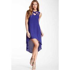 Blue Strappy Hi-Low Dress. Very Flattering. Nwot
