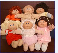 Still have two of my official Cabbage Patch dolls (one boy, one premie girl) and one handmade knock-off version when they were too expensive and limited in supply but my mom was determined to make me happy!