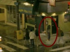 Scary ghost on tape: Man walked through a real scary GHOST on tape   Par...