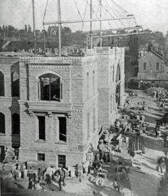 Construction of Old City Hall - c. 1887