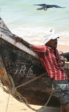 Chilling by the sea...India
