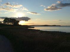 Beautiful sunset at Fyns Hoved, Fyn, Danmark