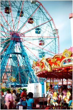 Take a ride on the ferris wheel at Coney Island :-)