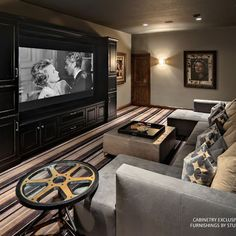 Home Theater Design Available At Clear Audio Design In Charleston, WV.  Layout For Basement Media Room. Small Media Room Design Ideas, Pictures,  Remodel, ...