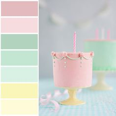 Love these colors for a baby girl's nursery!