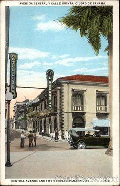 Ave. Central y calle 5ta. A la izq. El Hotel Central, a la der. I. L. Maduro con dirección No. 34-46 apdo 291, Pmá. Venta de sombreros Pmá., sedas, perfumes y souvenires.