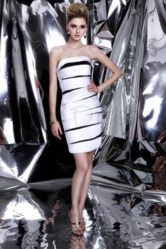 Sexy Sheath/Column Short/Mini Strapless Dasha&#8217#tbdress reviews#cocktail dresses#short dresses reviews#