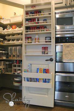 storage spaces, pantry storage, the doors, kitchen organization, pantri, pantry doors, diy foil, pantry organization, spice racks