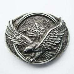 New 3D Eagle Wildlife Mountain Silver Bird Belt Buckle >>> Click image for more details.(This is an Amazon affiliate link)