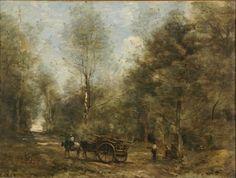 COROT - Une allée dans les bois de Wagnonville, 1871. Musée des Beaux Arts de la ville de Reims © photo C. Devleeschauwer