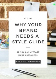 Creating your own style guide (or brand book) for your blog, website, or (in my case) Etsy shop is actually more important than you might think. Click to get your free brand personality workbook.