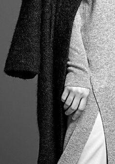 Tweed mohair coat, wool cashmere dress | Stills Atelier